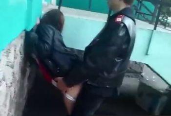 Быстрый секс на улице в Одессе за гаражами